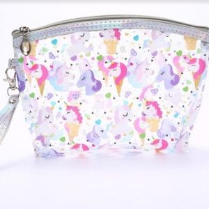 Handbags - Pretty Purple & Pink Unicorns Clear Cosmetic Bags
